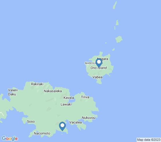 map of Kadavu fishing charters