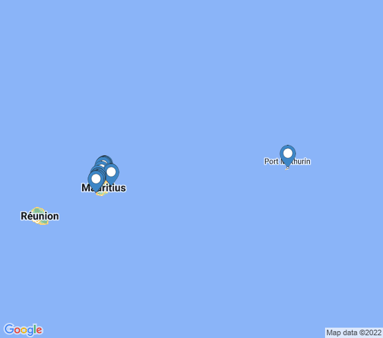 map of Mauritius fishing charters
