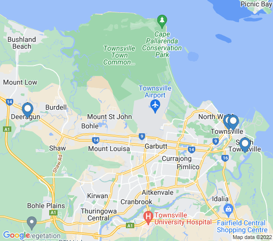 map of South Townsville fishing charters