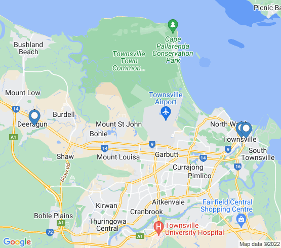 map of Townsville fishing charters