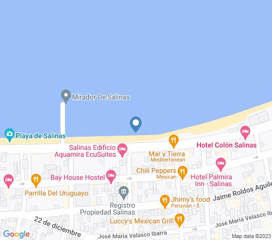 map of Salinas fishing charters
