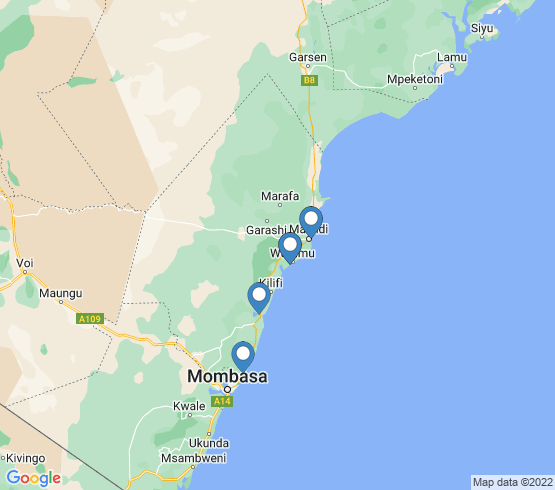 map of Kenya fishing charters