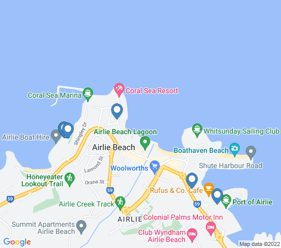 map of Cannonvale fishing charters