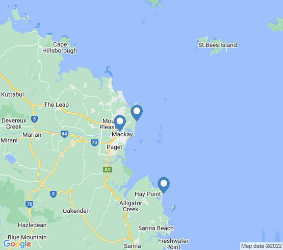 map of Hay Point fishing charters