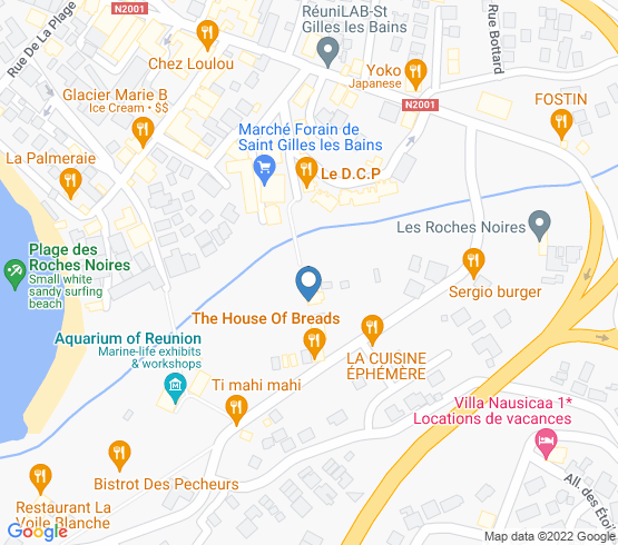 map of Saint-Gilles Les Bains fishing charters