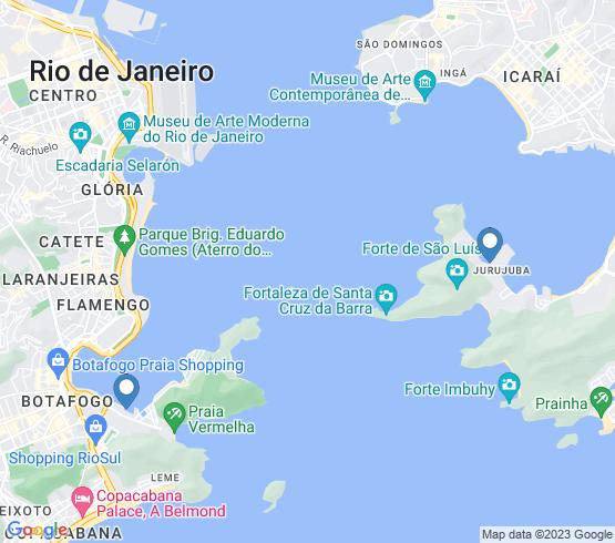 map of Rio De Janeiro fishing charters