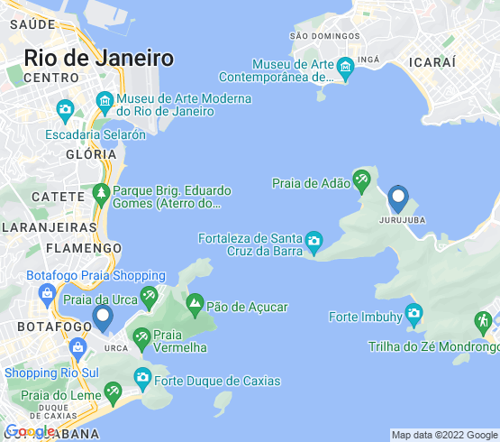 map of Niterói fishing charters