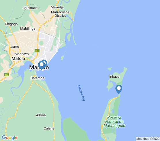 map of Maputo fishing charters