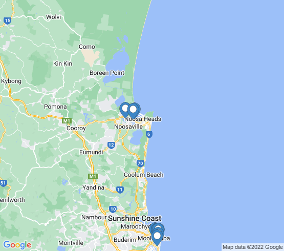 map of Minyama fishing charters