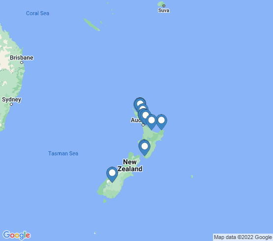 map of New Zealand fishing charters