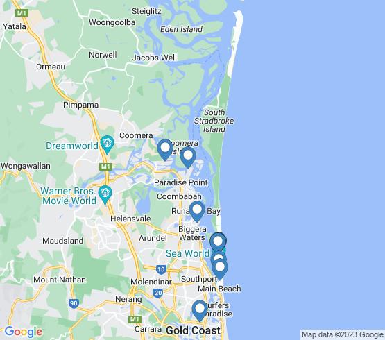 map of Runaway Bay fishing charters