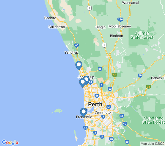 map of Perth fishing charters