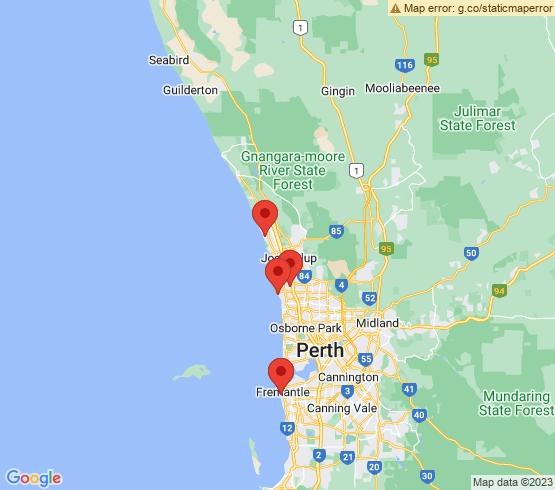 map of Fremantle fishing charters