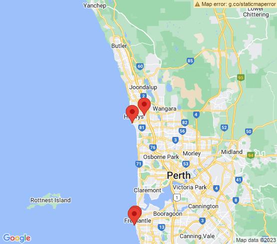 map of Padbury fishing charters
