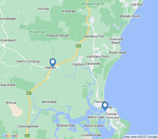 map of Forster fishing charters