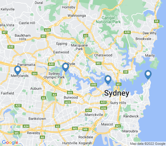 map of Sydney fishing charters