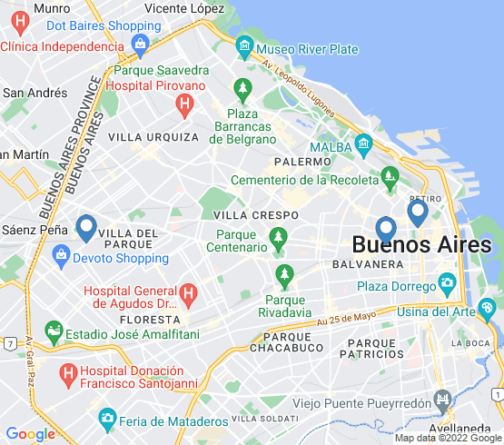 map of Buenos Aires fishing charters