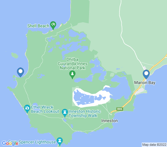 map of Marion Bay fishing charters