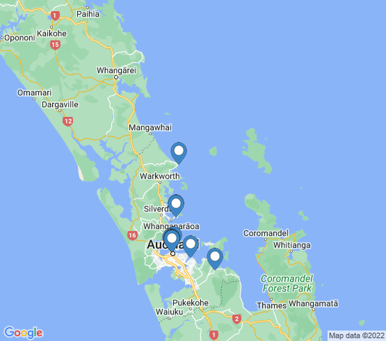 map of Auckland fishing charters