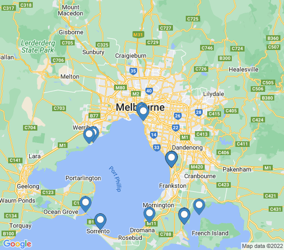 map of Carrum fishing charters
