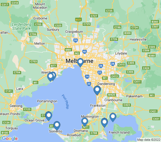map of Hastings fishing charters