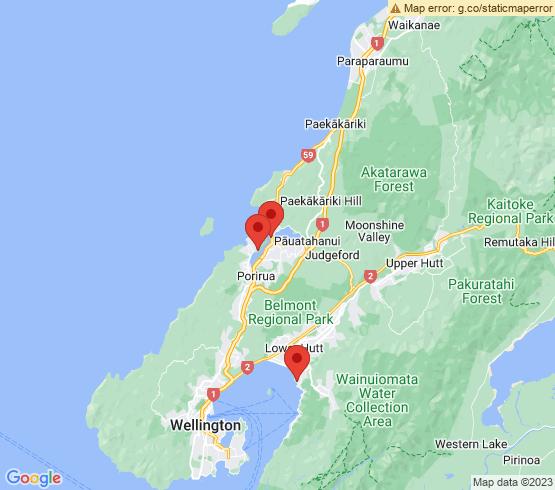 map of Porirua fishing charters