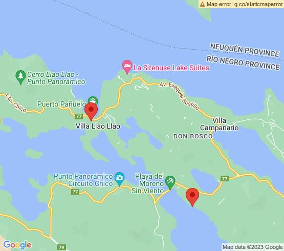 map of San Carlos De Bariloche fishing charters