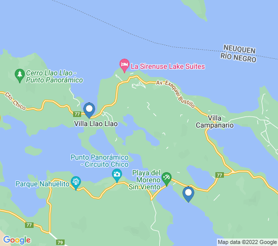 map of San Carlos De Bariloche fishing charters
