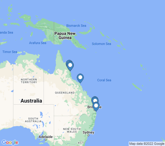 map of Queensland fishing charters