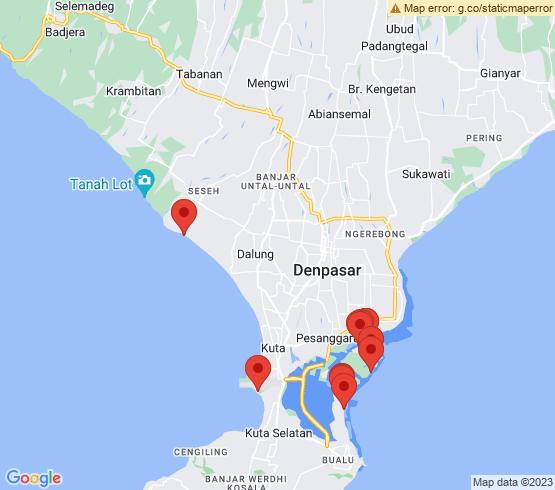 map of Nusa Dua fishing charters