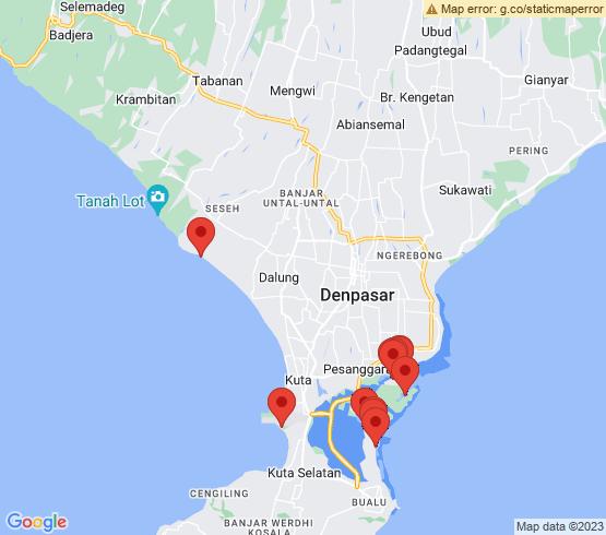 map of Denpasar fishing charters