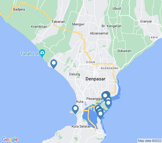 map of Nusa Dua fishing charters