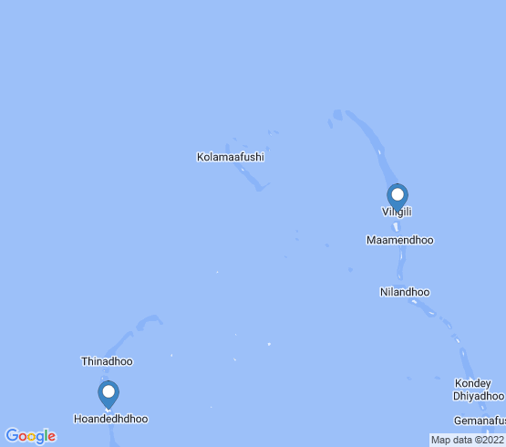 map of Madaveli fishing charters