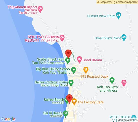 map of Sairee Beach fishing charters