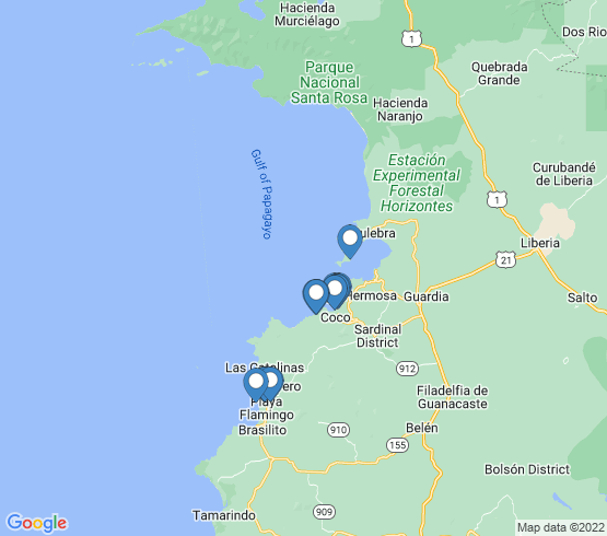 map of El Coco fishing charters