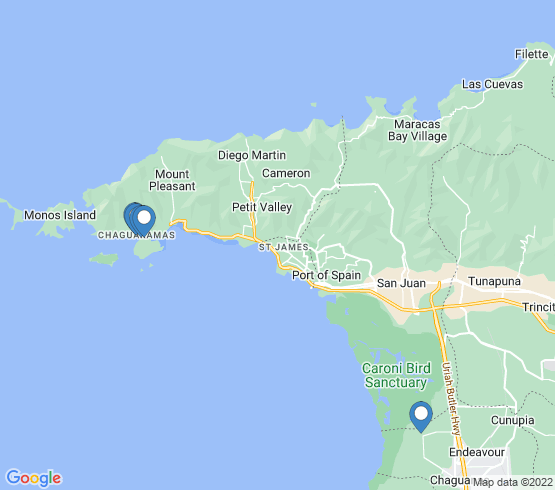 map of Port Of Spain fishing charters