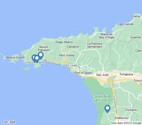 map of Power Boats fishing charters