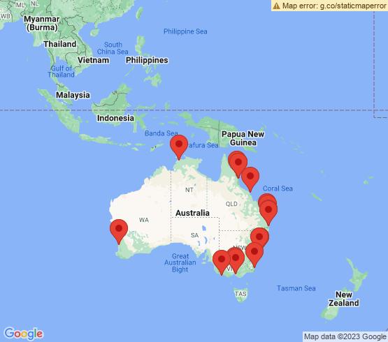 map of Australia fishing charters