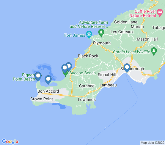 map of Scarborough fishing charters