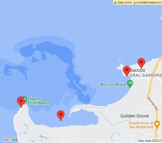 map of Buccoo fishing charters