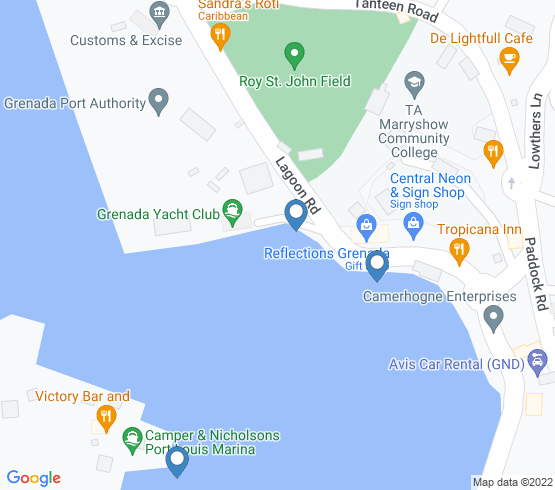 map of Grenada fishing charters