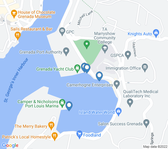map of St Georges fishing charters
