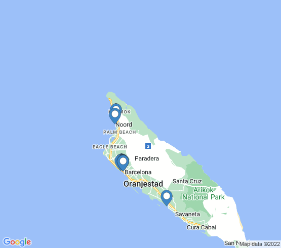 map of Oranjestad fishing charters