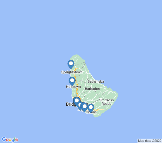 map of Barbados fishing charters