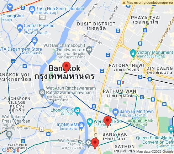 map of Bangkok fishing charters