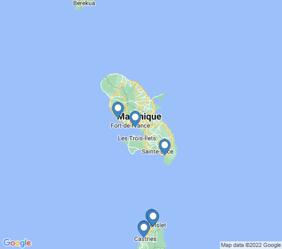 map of Fort-de-France fishing charters