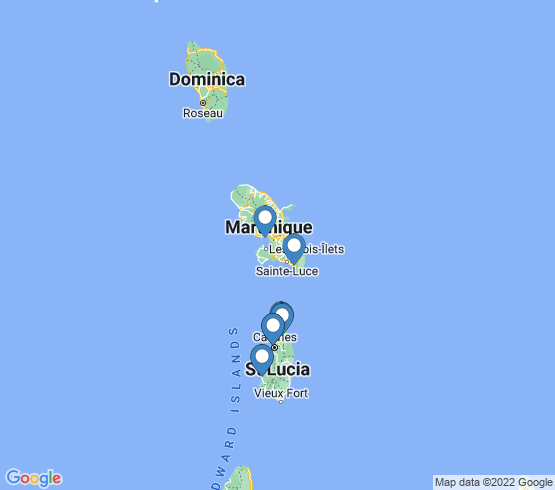 map of Castries fishing charters