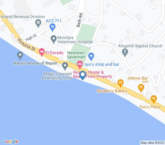 map of Dominica fishing charters