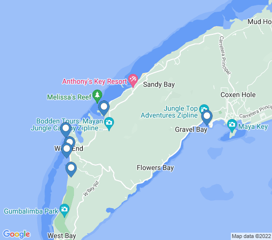 map of Sandy Bay fishing charters