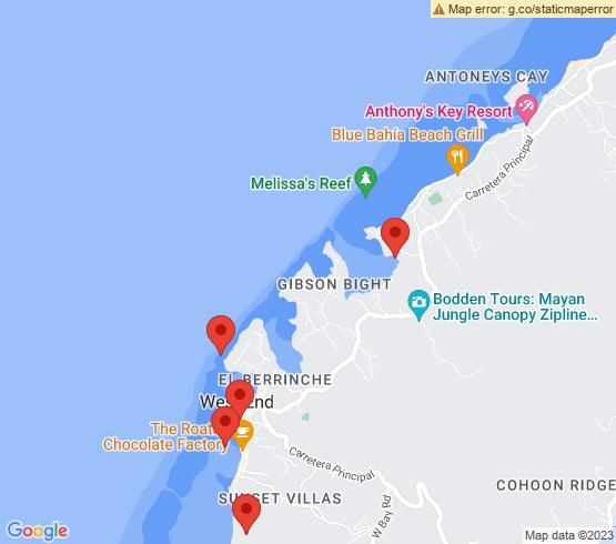 map of Roatan fishing charters